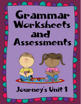 Nouns, adjectives, action verbs assessments and quizzes -