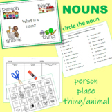 Nouns and Action Verbs  Worksheets
