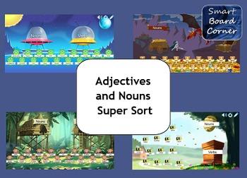 Nouns and Verbs Super Sort SMART Board Lesson