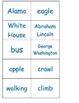Nouns verbs sort ESL hands on center cut paste GT students