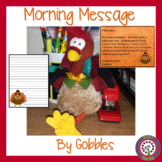 Nov Morning Message - Common Core ELA -Thanksgiving - Morn
