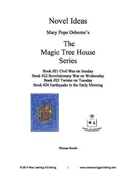 Novel Ideas: Magic Tree House #21 to #24: Four Complete No