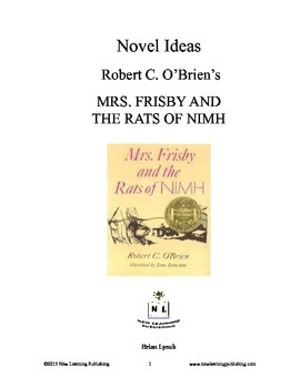 Novel Ideas - Robert C. O'Brien's Mrs. Frisby and the Rats