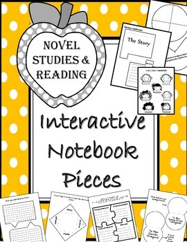 Novel/Story Interactive Notebook Pieces