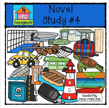 Novel Study #4 {P4Clips Trioriginals Digital Clip Art}