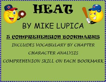 Heat by Mike Lupica Novel Study- 5 Vocabulary and Comprehe