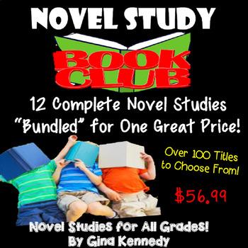 Novel Study Book Club, Purchase Novel Studies in an Bundle