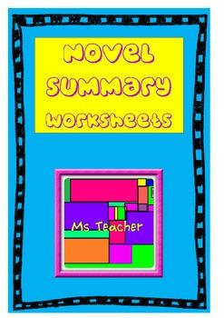 Novel Study Book Summary Worksheet - Read and Respond