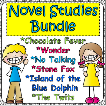 Novel Study Bundle: NO Talking, Wonder,Stone Fox, Island o