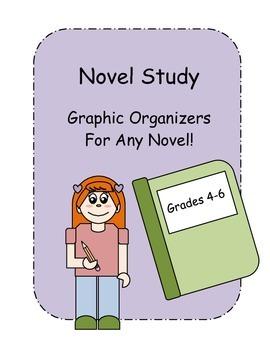 Novel Study Graphic Organizers - Use with any novel!