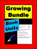 Novel Study Growing Bundle with a Variety of Book Units