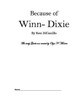 Novel Study Guide to Because of Winn-Dixie