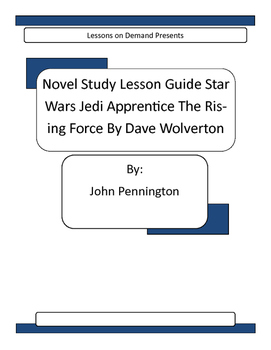 Novel Unit Star Wars Jedi Apprentice The Rising Force