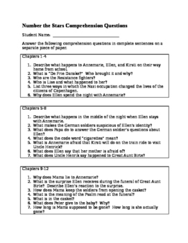 Novel Study:  Number the Stars Assessment Pack