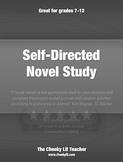 Novel Study, Self-Directed Journal Response & Activities