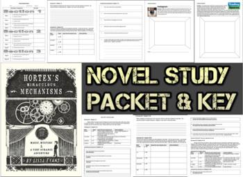 Novel Study Student Packet & KEY - Horten's Miraculous Mec
