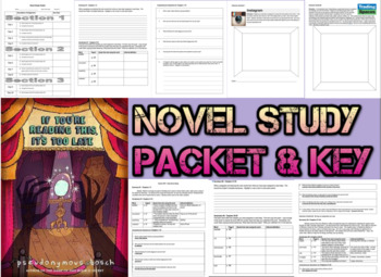 Novel Study Student Packet & Key- If You're Reading This I