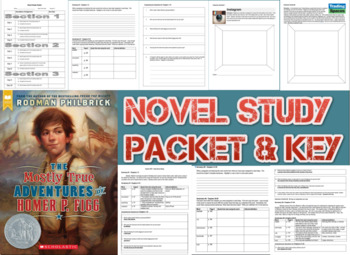 Novel Study Student Packet & Key - Mostly True Adventures