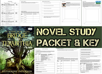 Novel Study Student Packet & Key for Bridge to Terabithia
