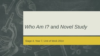 Novel Study and Autobiography Unit of Work