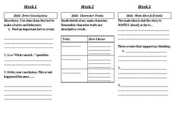 Novel Trifold - 5 Reading Skills
