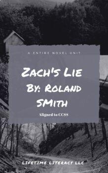 Novel Unit Vocabulary and Grammar for Zach's Lie