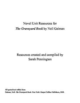 Novel Unit for The Graveyard Book by Neil Gaiman