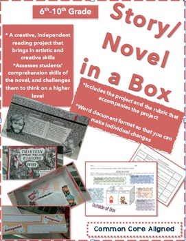 """Novel and Story Project-""""Novel/Story in a Box""""-Creative an"""