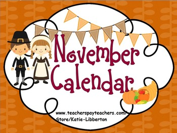 November 2016 Kindergarten ActivInspire Calendar