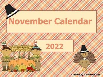 November 2016 Activboard Calendar Activities