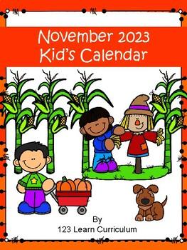 November 2016 Kids Calendar
