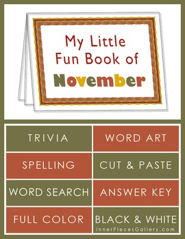 My Little Fun Book of November Helps Reinforce the Months