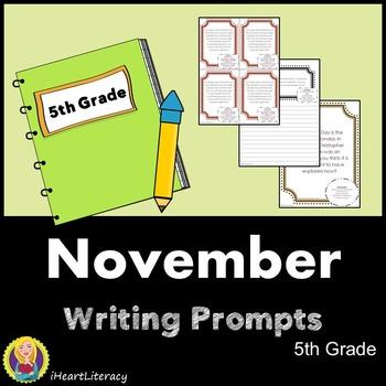 Writing Prompts November 5th Grade Common Core