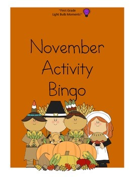 November Activity Bingo