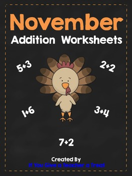November Addition Practice