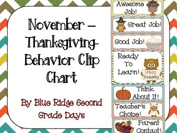 November Behavior Clip Chart