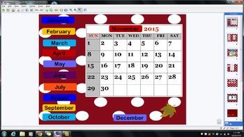 November Mimio Calendar