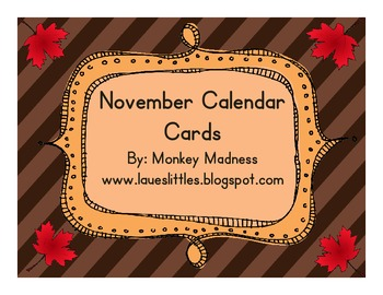 November Calendar Cards (Leaves)