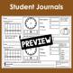 November Calendar Math Student Journal