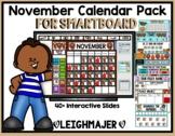 2016 November Math and Calendar Pack for SMARTboard