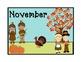 November Calendar Topper and patterned date cards