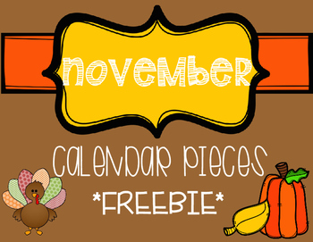 November Calendar pieces FREEBIE
