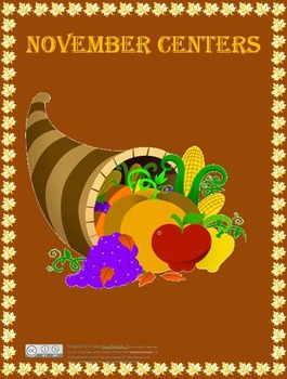 November Task Card Centers