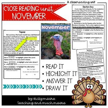 November Close Reading