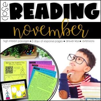 November Close Reading Passages