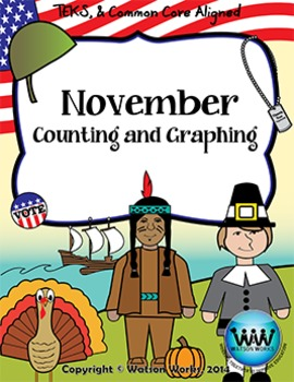 November Counting & Graphing {Election Day, Veterans Day,