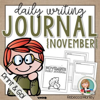 November Daily Journal (Writing Prompts)