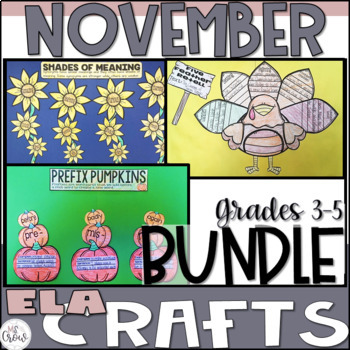 November ELA Craftivity Bundle