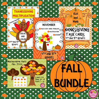 4th, 5th Grade Thanksgiving BUNDLE - OVER 50% OFF!