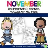 Fluency for November - Common Core Correlated